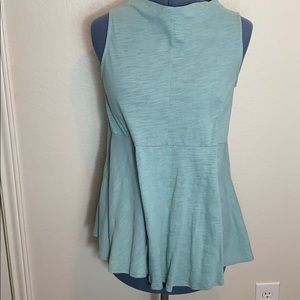 Anthropologie Deletta Mint Fit Flare High Neck Top